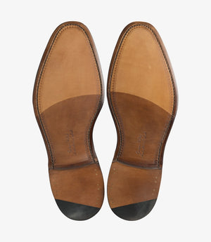 LOAKE - Russell Tasselled Loafers Calf Shoe - Dark Brown - Sole