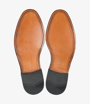 LOAKE Nuffield Burnished Calf Leather Shoe - Mahogany - Sole