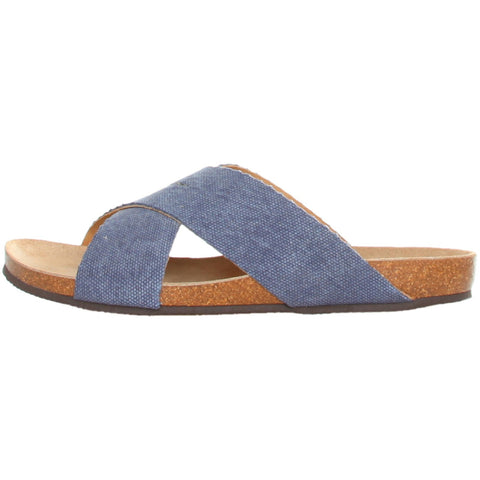 Dr. Scholl - Canvas/Leather Sandals - Blue