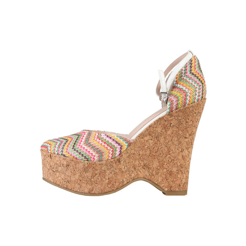 PRIMADONNA Fabric Wedge - Multi Coloured