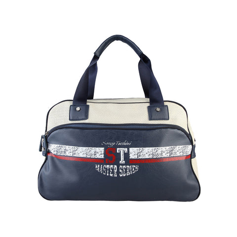 Tacchini Travel Bag (Large) - Blue/White