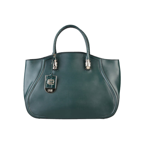Cavalli Class Daphne Calf Leather Handbag - Green