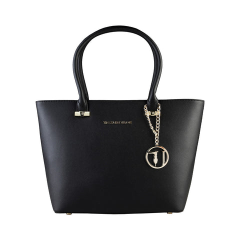 Trussardi Tote Shopping Handbag - Black