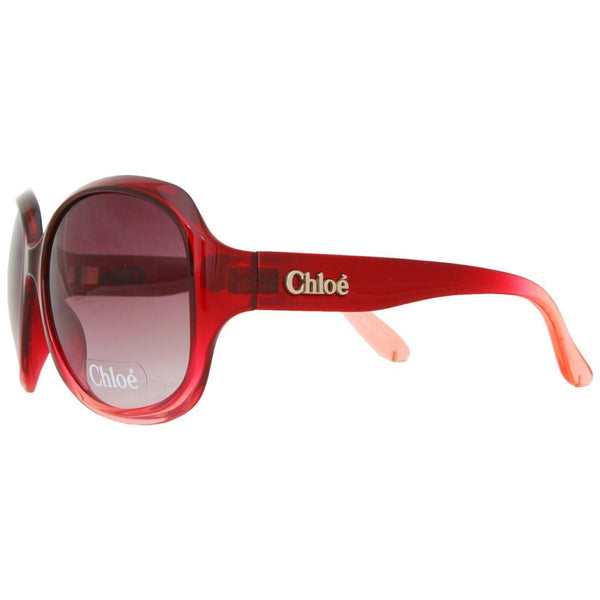 Sunglasses - Chlo'_'ä Oversized Sunglasses - Red