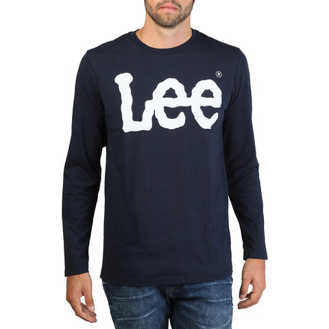 T Shirts - Lee - Long Sleeved Print Tshirt - Blue