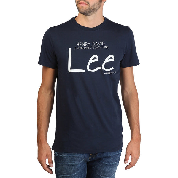 T Shirts - Lee - Print Tshirt Slim Fit - Blue