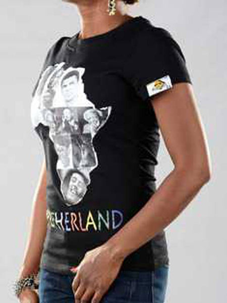 T Shirts - Motherland Graphic T-shirt For Ladies - Bandit Urban Clothing