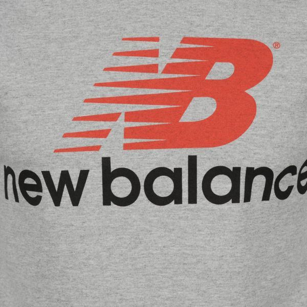 T Shirts - NEW BALANCE MEN'S GREY FRONT LOGO T-SHIRT
