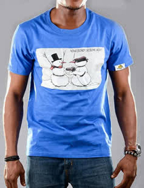 T Shirts - Snowman Graphic T-shirt For Guys - Bandit Urban Clothing