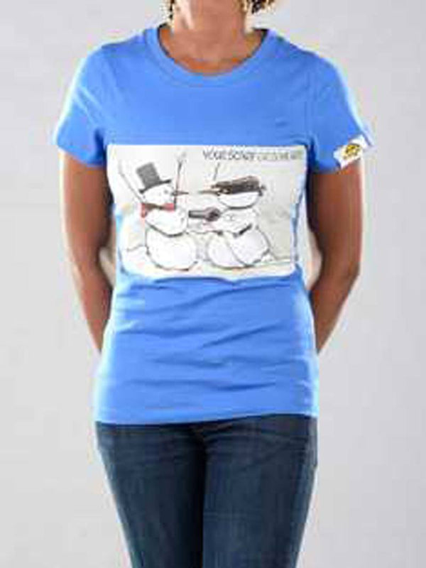 T Shirts - Snowman Graphic T-shirt For Ladies - Bandit Urban Clothing