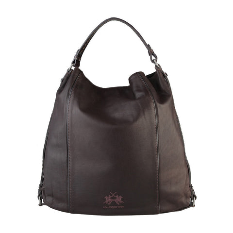 La Martina Pizzaro Large Hobo Bag - Dark Brown