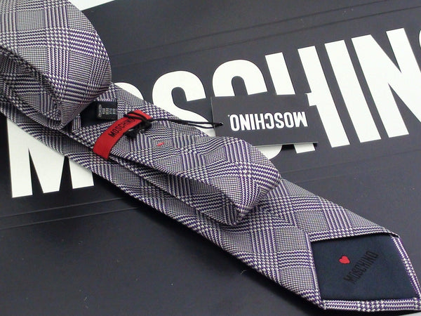 Ties - Silk Tie - MOSCHINO - Grey Check
