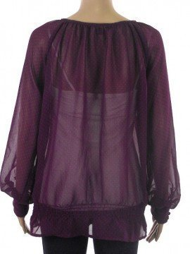 Tops - Ladies - Ladies Berry Spot Print Chiffon Tunic Top - Debenhams