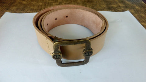 Women Belt - Roberto Cavalli Leather Belt - Nude