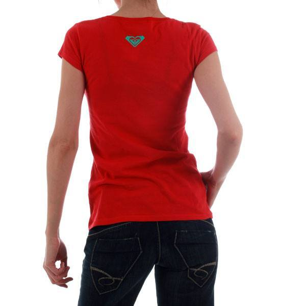 Women's T-shirts - Roxy Ladies Fitted  Tshirt - Red