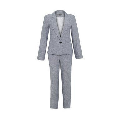 Workwear - Women - Dorothy Perkins - Women's Tailored Slim Fit Linen Blend Trousers Smart 2-Piece Suit