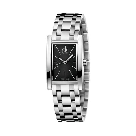 Wrist Watch - Ladies - CK Refine Black Dial Ladies Watch - Stainless Steel