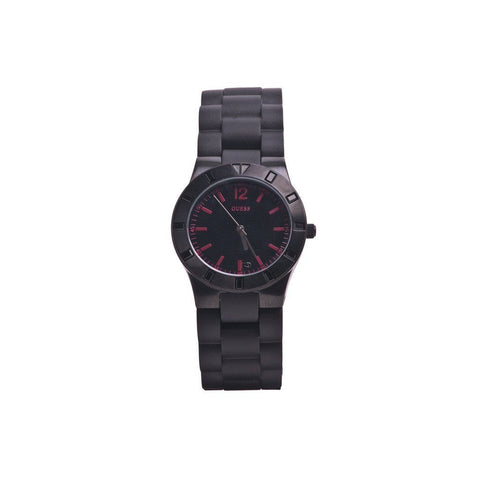 Wrist Watch - Ladies - Guess Ladies' Trend Series Black IP Resin Bracelet Watch