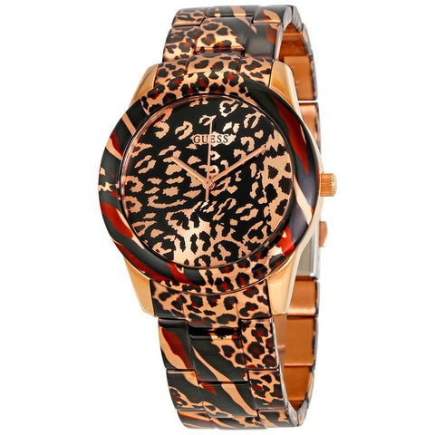 Wrist Watch - Ladies - Guess  Vixen Animal Print Dial Ladies Watch