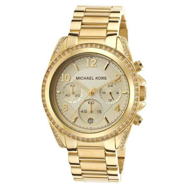 Wrist Watch - Ladies - Michael Kors MK5166 Ladies Gold Plated  Watch