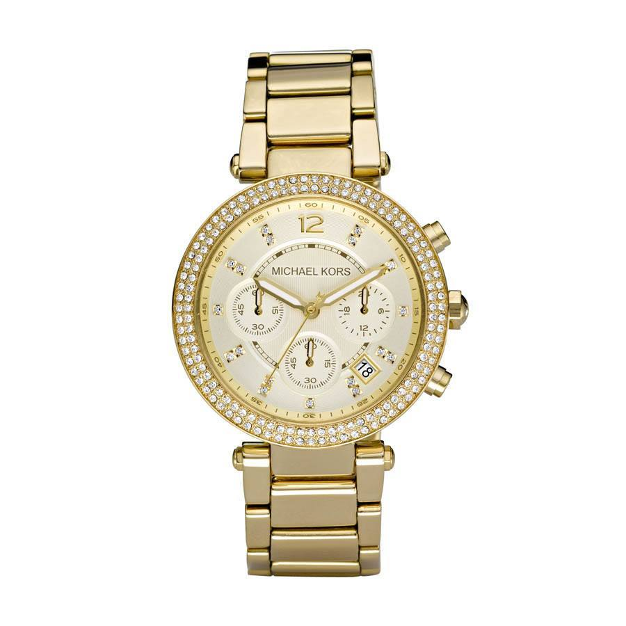 Michael Kors MK5354 Ladies Chronograph Stone Set Watch - Ninostyle