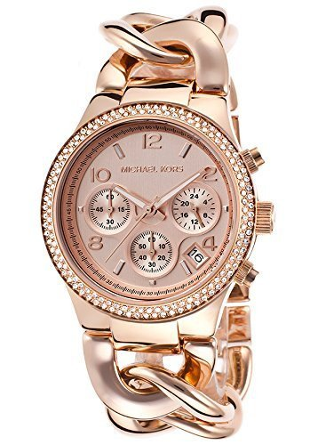 Wrist Watch - Ladies - Michael Kors Women's Runway MK3247 Rose-Gold Stainless-Steel Quartz Watch With Rose-Gold Dial