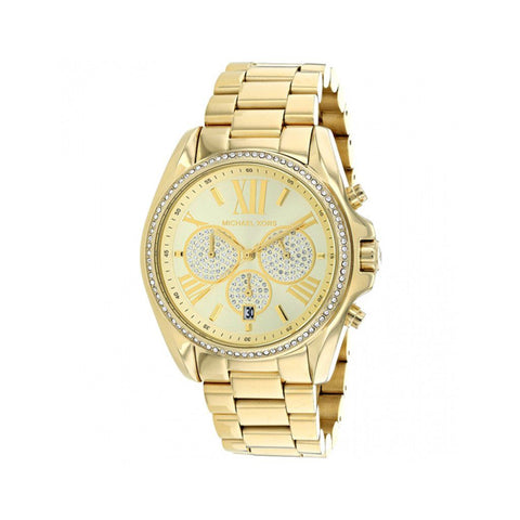 Wrist Watch - Ladies - MK - Ladies Gold Bradshaw Pave Watch