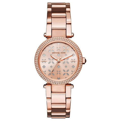 Wrist Watch - Ladies - MK - Ladies Rose Gold Mini Parker Watch