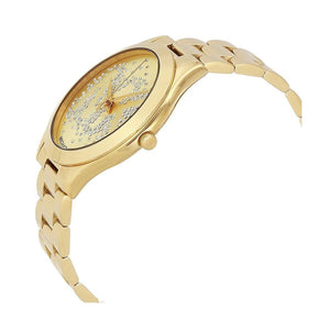 MK - Slim Runway Ladies Gold Tone Crystal Watch - Ninostyle
