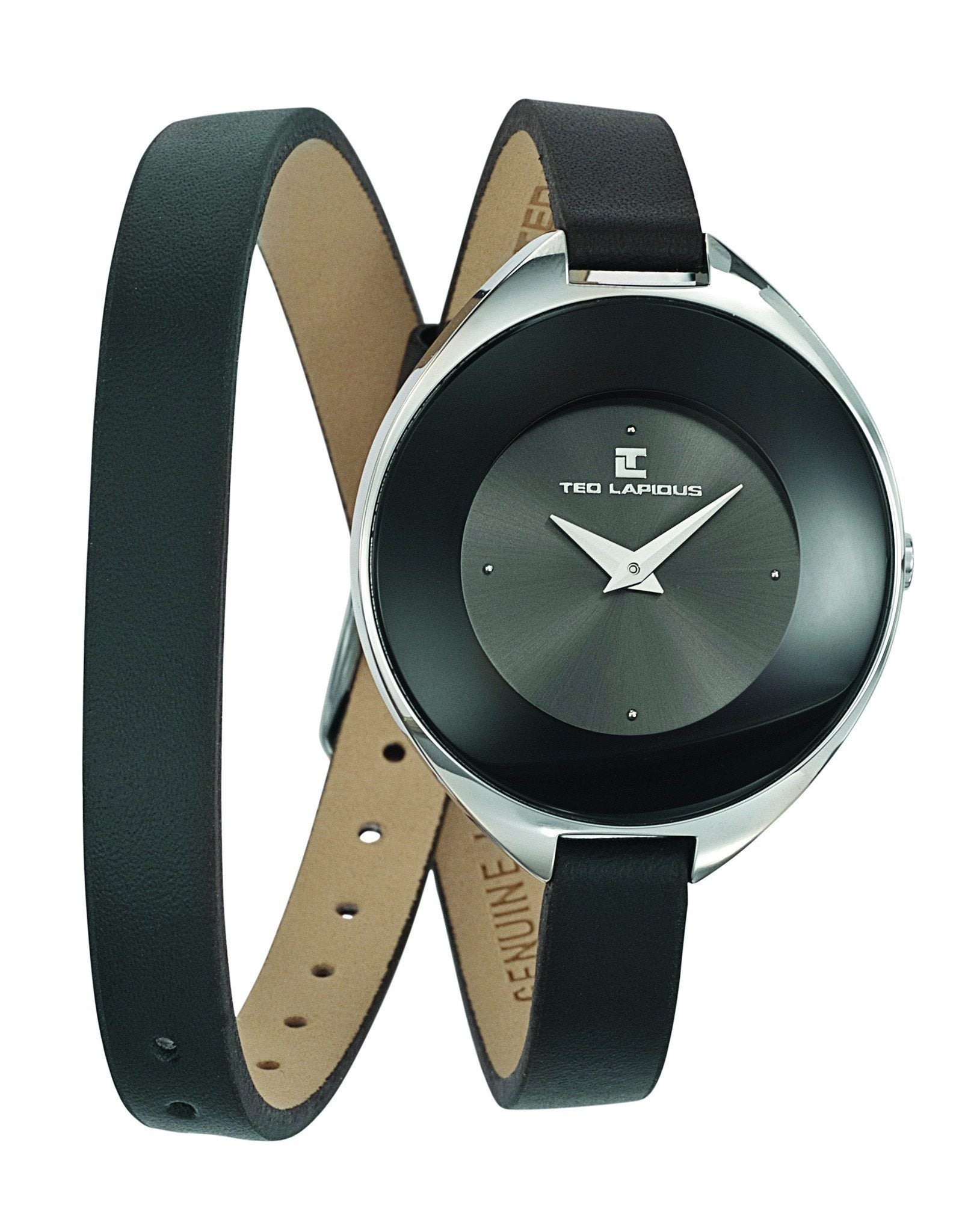 Ted Lapidus Women's Analog Quartz Watch with Black Leather Strap - Ninostyle