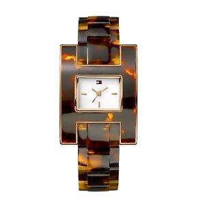 Wrist Watch - Men - Tommy Hilfiger Women's 1781166 Fashion Tortoise H Inspired Logo Case Watch