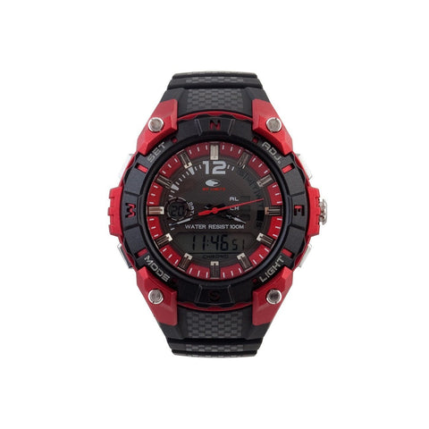 Wrist Watch - Unisex - No Limit AIKAU Analogue/Digital  Watch - Red/Black