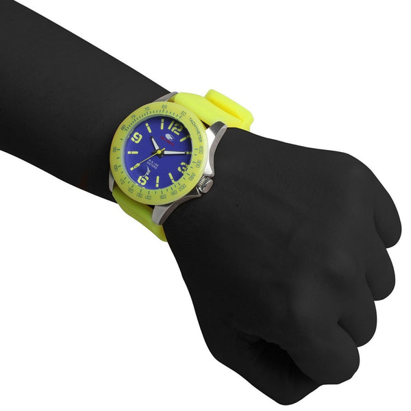 Wrist Watch - Unisex - No Limit Lampu Fluo Analogue Watch - Blue/Yellow