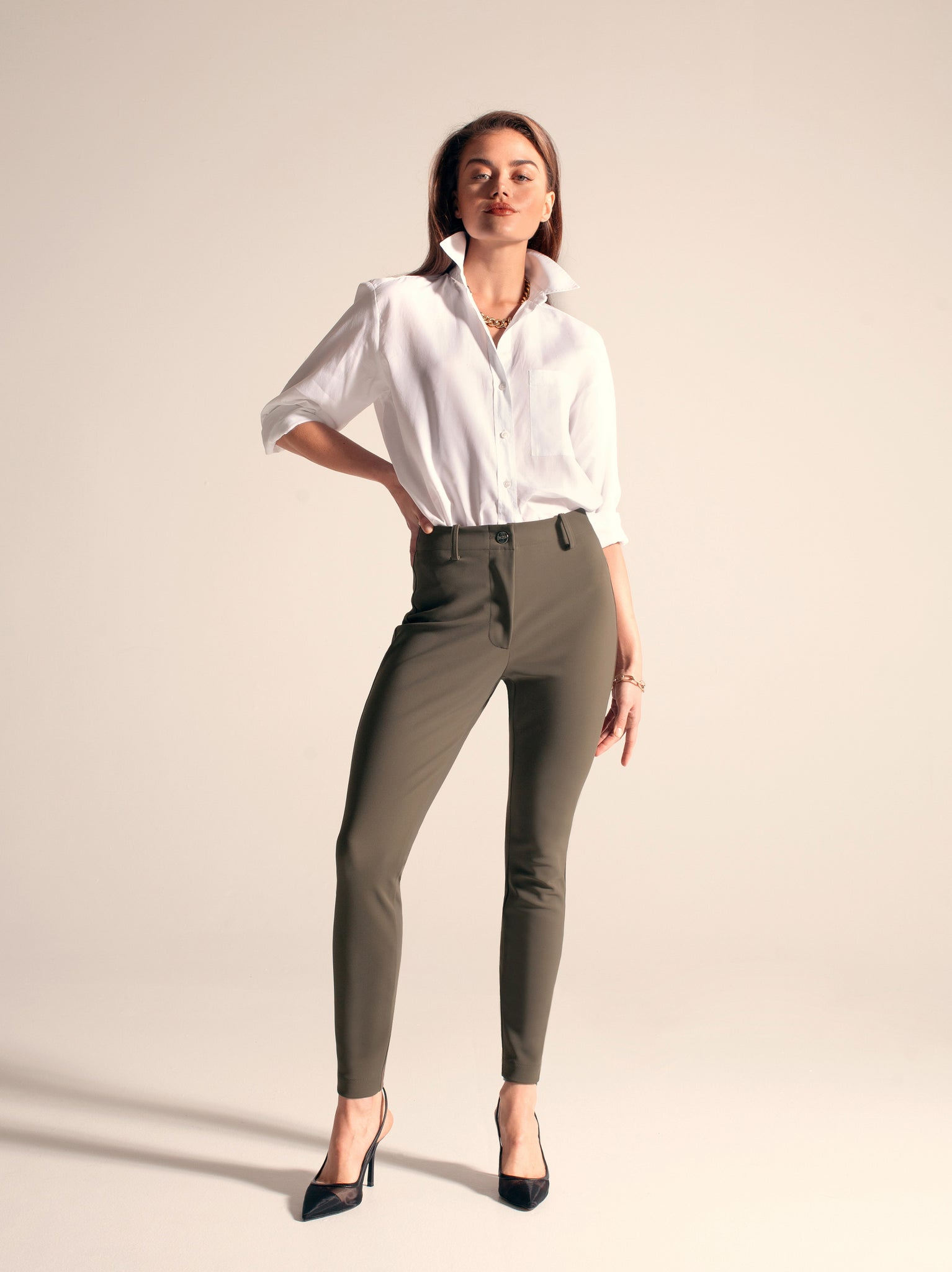 "BIANCA Skinny / 25"" Inseam / Army Green / Primary"