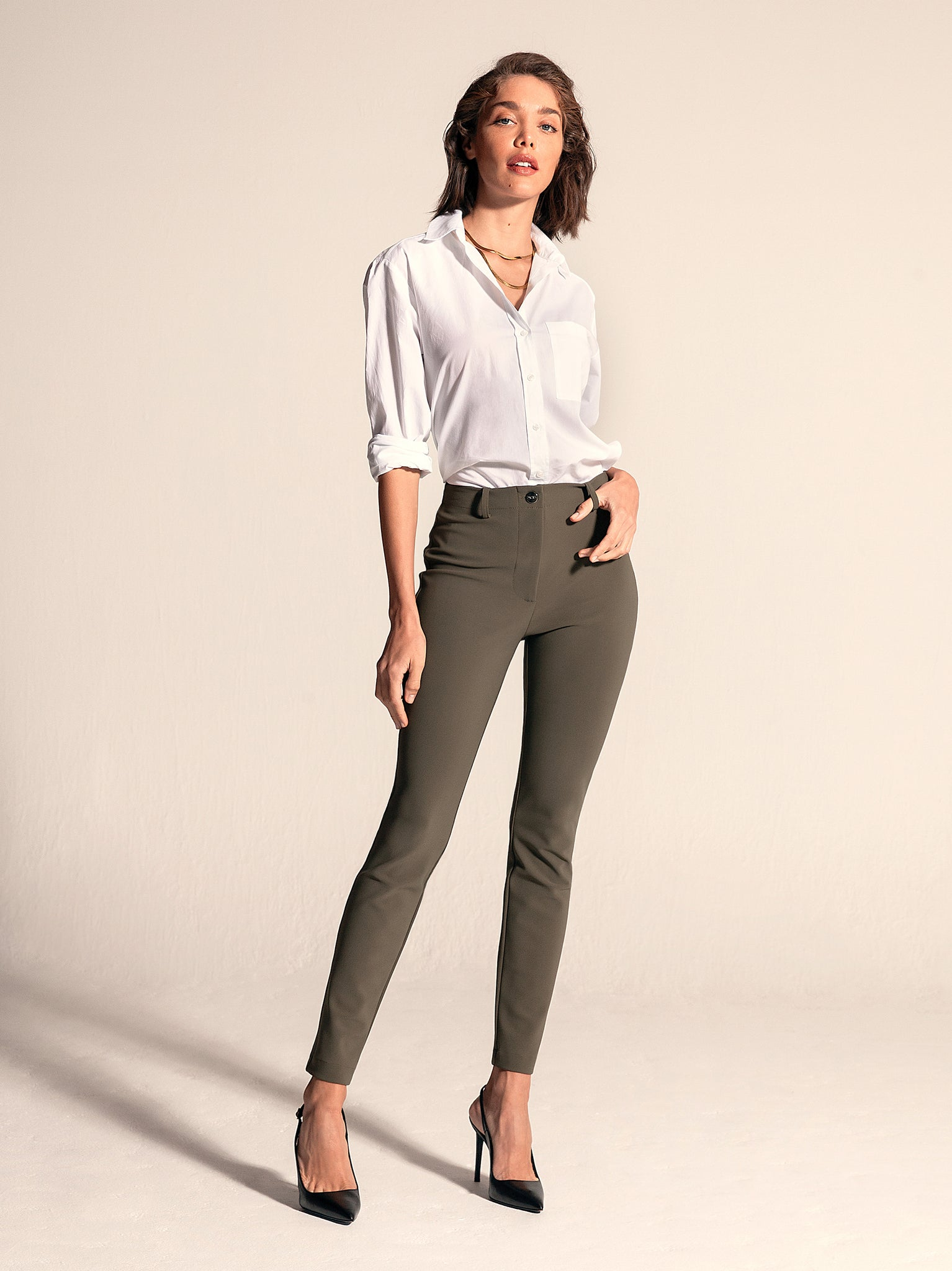 "BIANCA Skinny / 29"" Inseam / Army Green / Primary"