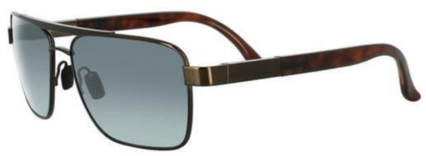 black metal frame with squared aviator style lenses. Tortoise shell over ears. Mirrored lenses