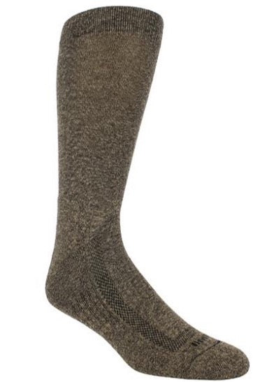 Heather brown sock