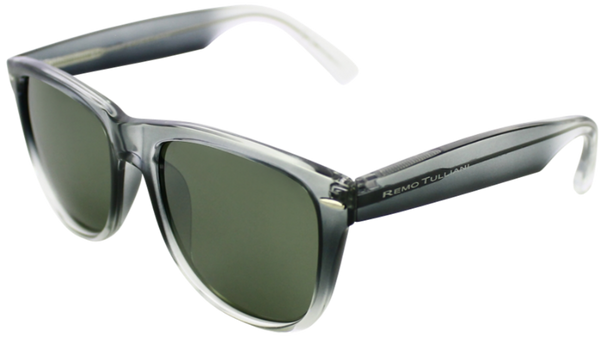 Grey to clear fade frame with mirrored lenses