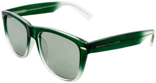 Green to clear fade frame with mirrored lenses