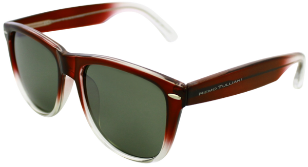 Red to clear frame with mirrored lenses