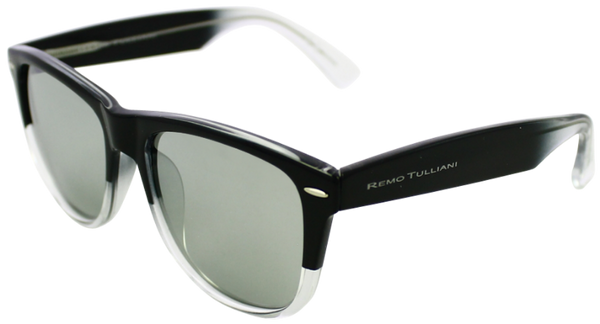 Black to clear fade frame with mirrored lenses