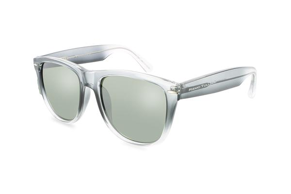 Courage fashion trendy polarized sunglasses grey clear fade Grey / Clear Fade
