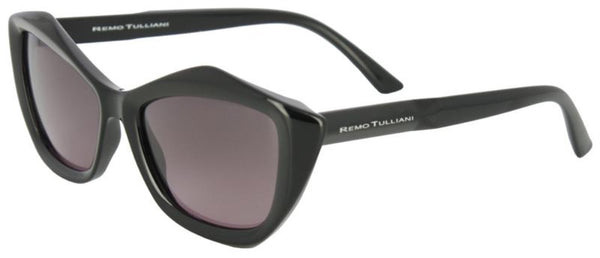 Black frames with a diamond shape and bronze colored lens