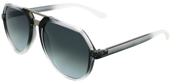 grey fade to clear angled aviator frames with ash grey lenses