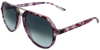 pink tortoise shell angled aviator frames with ash grey lenses