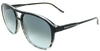 black fade to tortoise shell flat sport frame sunglasses with ash grey lens