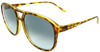 yellow tortoise shell flat sport frame sunglasses with ash grey lens