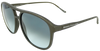 Bronze brown flat sport frame sunglasses with ash grey lens