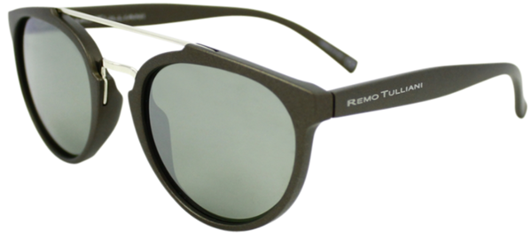 matte black round frame sunglasses with mirror lenses