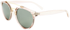 pink round frame sunglasses with black mirror lenses